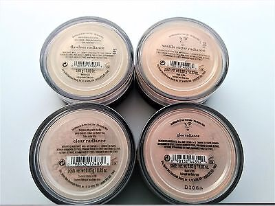 bareMinerals All-Over Face Color (CLEAR-GLEE-FLAWLESS-VANILLA SUGAR) Radiance x4