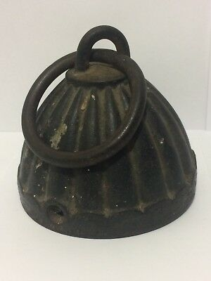 Antique 1860s Cast Iron Horse Hitching Fence Post Top Dome Shape