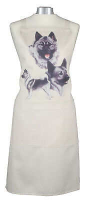 Norwegian Elkhound Group Dog Cotton Apron Double Pockets Baking Cook Ideal Gift