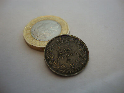 Rare old vintage little British antique 925 sterling silver Victorian 1887 coin