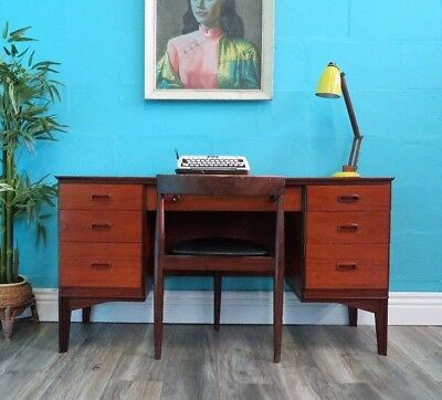 Stylish Retro Vintage Mid Century Teak Austin Suite Desk