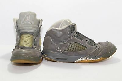 best loved 5b39b fa8d6 NIKE AIR JORDAN Retro 5 GS Wolf Grey Shoes 440888-005 Youth Size 4.5Y  Womens 6.5