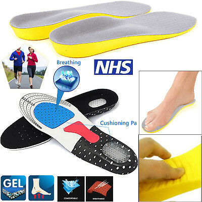 Memory Foam Unisex Orthotic Shoe Insoles Pads Trainer Foot Feet Comfort Heel