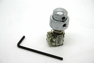DUAL CONCENTRIC POTENTIOMETER 500K LOGARITHMIC WITH CHROME KNOBS - M8 12mm BASE