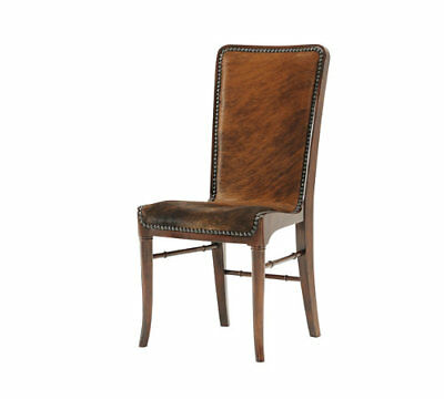"Theodore Alexander 4000-512HH ""The Sweep ""SlingBack Side Chair NailHead Trim New"