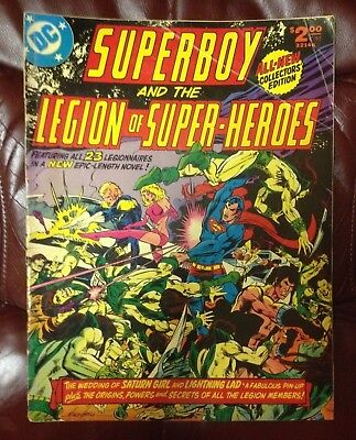 DC TREASURY Edition -SUPERBOY and the Legion of Super Heroes (C-55) 10x13 size