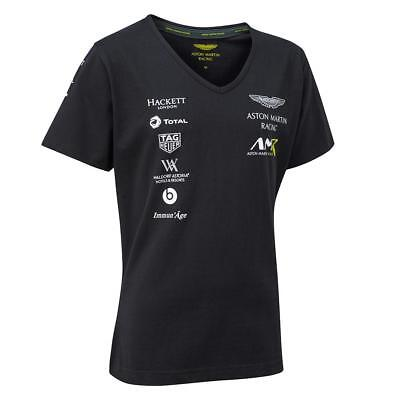 New For 2018! Aston Martin Racing Ladies Team T-Shirt - Le Mans-Uk Ship