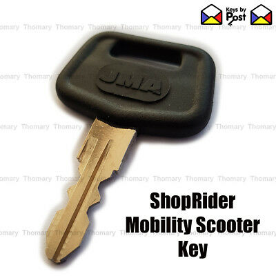SPARE SHOP RIDER  Mobility Ignition on off key SHOPRIDER. New Large Plastic Top