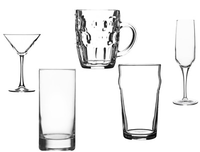 Bar & Glass Supplies {24's} Catering/Pub/Restaurant,Pint/Cocktail/Flute/ Free PP