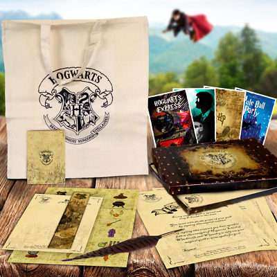 HARRY POTTER QUILL CHRISTMAS GIFT SET SPELLS BOX BAG New