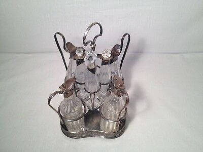 Rare Antique English Sterling Silver Cut Glass Caster Set 1793-1813