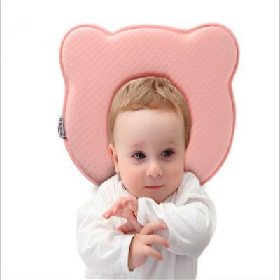 Bear Pattern Baby Pillow Newborn Infant Comfortable Cushion Prevent Flat Head CB
