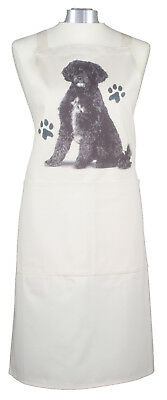 Portuguese Water Dog Cotton Apron Double Pockets Baking Cook Ideal Gift