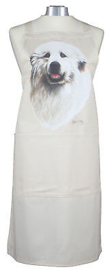 Pyrenees Breed of Dog Cotton Apron Double Pockets Baking Cook Ideal Gift