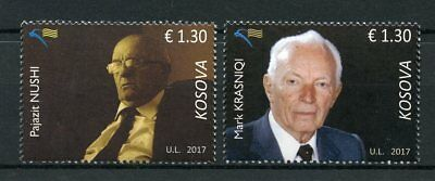 Kosovo 2017 MNH Famous People Pajazit Nushi Mark Krasniqi 2v Set Writers Stamps