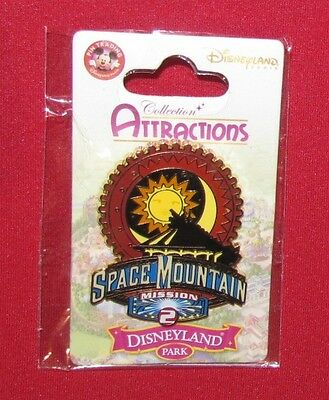Disney Pin SPACE MOUNTAIN MISSION 2 DISNEYLAND PARIS RARE CARD HTF