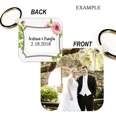 CUSTOM Key Chain Ring YOUR PHOTO, DESIGN, LOGO TEXT VERY NICE GIFT BAG TAG