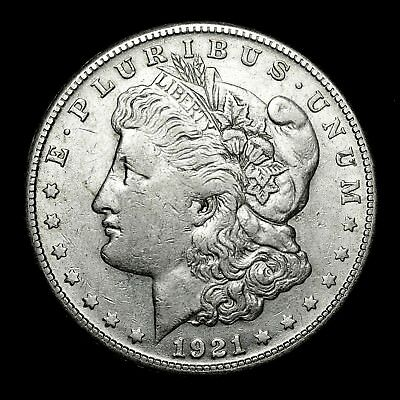 1921 S ~**ABOUT UNCIRCULATED AU**~ Silver Morgan Dollar Rare US Old Coin! #37