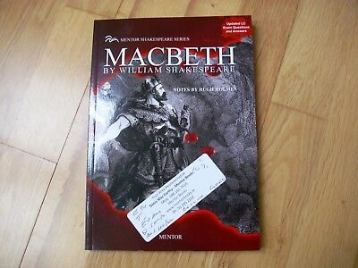 MACBETH by William Shakespeare Mentor with notes by Hugh Holm brand new
