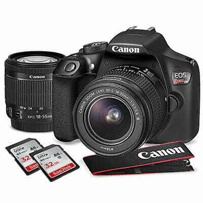 Canon EOS Rebel T6 DSLR Camera with EF-S 18-55mm f/3.5-5.6 IS II Lens, Along 129