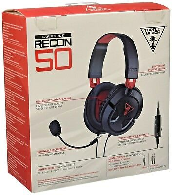 Turtle Beach-Gaming Stereo Headset Ear Force Recon 50 for Ps4, Xbox One, PC