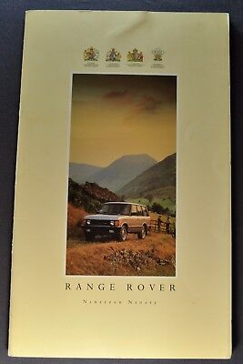 1990 Range Rover 24pg Catalog Sales Brochure Excellent Original 90