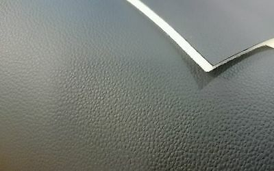 Black Leather Scrim Foam Backed 3Mm Upholstery Fabric Boat Camper Rock Roll Bed