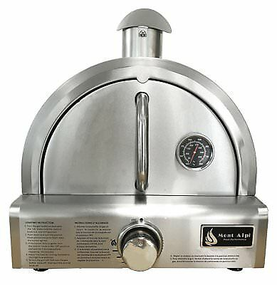 OpenBox Mont Alpi MAPZ-SS Table Top Gas Pizza Oven, Large, Stainless Steel