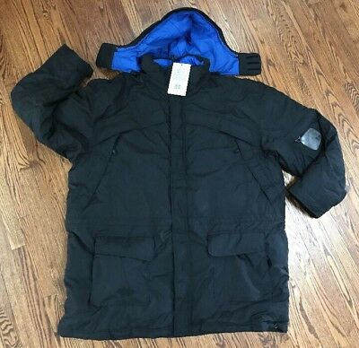 Nike Blue Ribbon Sports Black Winter Jacket Coat Mens Xxxxl