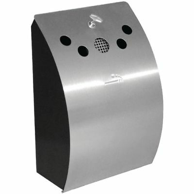 Ashtray 460mm Wall Mounted Curved Smoking Area Beer Garden Stainless Steel NEW