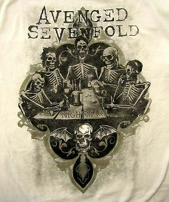 AVENGED SEVENFOLD cd lgo BOTTOMS UP Official SHIRT XL new