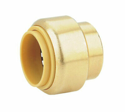 "3/4"" SharkBite Quality Push Fit Cap, Lead Free Brass, New! (x1)"