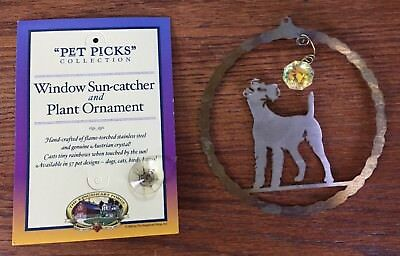 "New Terrier ""Pet Picks"" Dog Sun Catcher by Kingsheart Forge Stainless Steel"