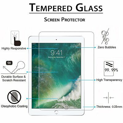 """Premium Tempered Glass Clear Screen Protector for Apple iPad Pro 9.7"""" Retina"""
