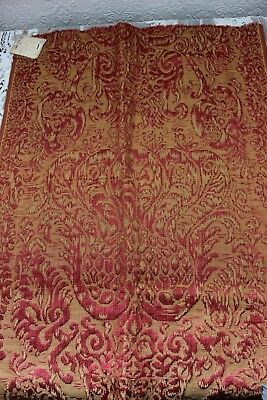 Rich French Antique 19thC Renaissance Style Design Silk Sample Fabric
