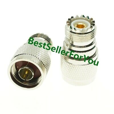 N Male to UHF SO-239 SO239 Female Jack Coax Straight RF Adapter Connector
