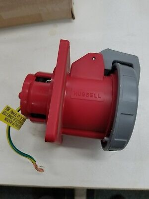 New Hubbell Hbl460R7W Pin & Sleeve Receptacle 3P 4W 60A 480V D601497