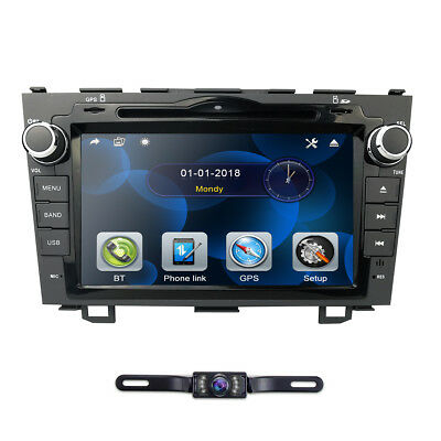 "for HONDA CRV 2007-2011 GPS Navigation 8"" Car Stereo DVD Player Radio Rear CAM"