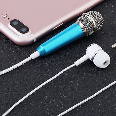 Compatible SmartPhone Singing Karaoke Microphone with Earphone Alloy Chatting