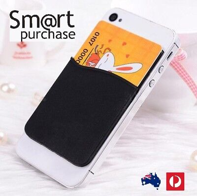 3M Adhesive Colors Smart Phone Silicone Wallet Opal Card Holder Cellphones