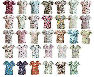 365 Work & Wear Women's Fashion Medical Nursing Scrub Tops