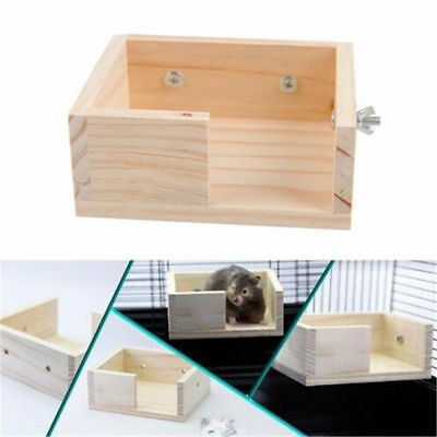 Funny Wooden Parrot Pet Birds Hamster Wooden Hanging Stand Perch Platform Toy