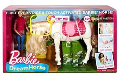 Barbie Dream Horse And Doll Voice Touch Activated 30 Realistic Reactions NEW
