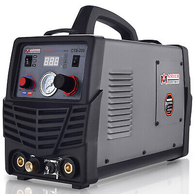 CTS-200 50A Plasma Cutter, 200A TIG-Torch/Stick Arc Welder 3-in-1 Combo Welding