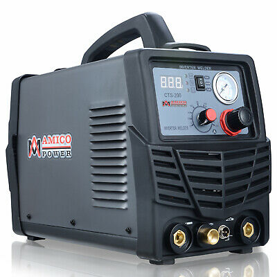 Amico CTS-200, 50 Amp Plasma Cutter 200A TIG/Stick Welder 3-in-1 Multifunction