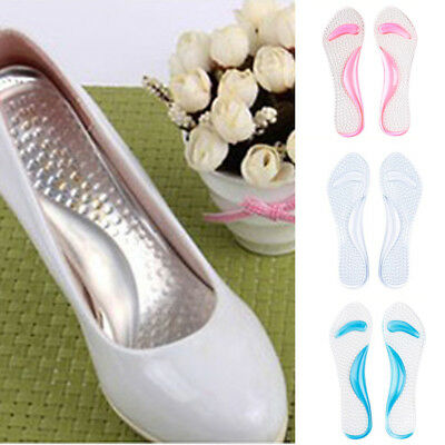 Unisex Silicone High Heel Gel Foot Arch Supports Insert Insole Pad Shoe Cushion