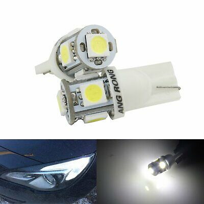 2X T10 W5W 501 194 Xenon White Auto LED Side Interior / Number Plate Light Bulb