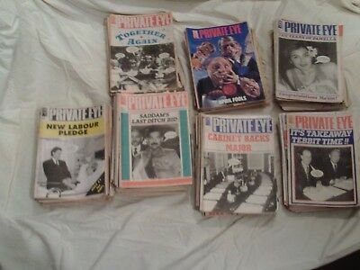 Private Eye Approx. 230 issues circa 1987 to 1998 OFFERS INVITED