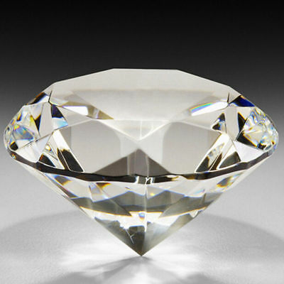 "LONGWIN 80mm 3.15"" W Crystal Diamond Paperweight Wedding Gift Table Decorations"