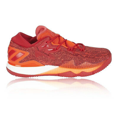 adidas Mens Crazylight Boost Low Court Shoe Red Sports Basketball Breathable